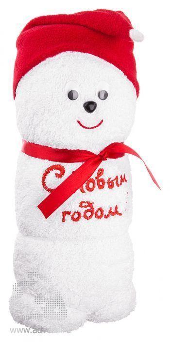 Полотенца-фигурки «Снеговик», белые