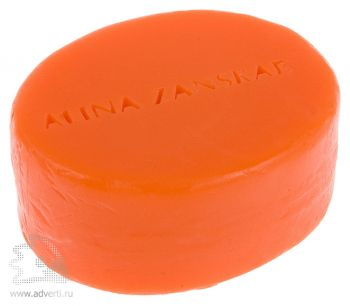 Мыло с тиснением 80 г, оранжевое