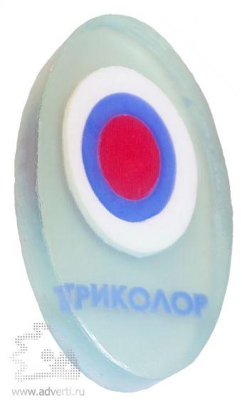 Мыло 3D с нанесением в 4 цвета 80 г , овальное