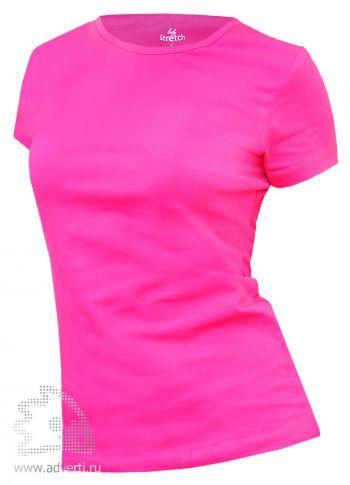 Футболка Leela «Lady Stretch» женская, ярко-розовая