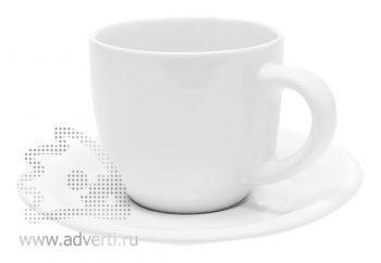 Чайная пара PR-009, белая