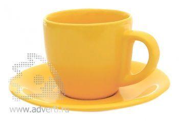 Чайная пара PR-009, желтая