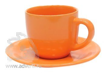 Чайная пара PR-009, оранжевая
