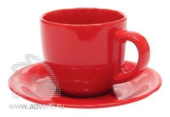 Чайная пара PR-009, красная