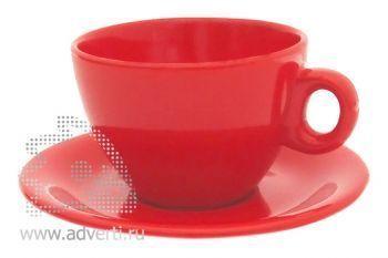 Чайная пара PR-010, красная