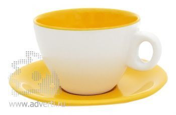 Чайная пара PR-011, желтая