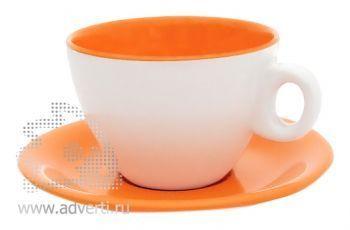 Чайная пара PR-011, оранжевая