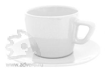 Чайная пара PR-012, белая
