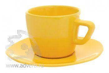 Чайная пара PR-012, желтая