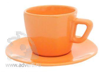 Чайная пара PR-012, оранжевая