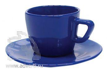 Чайная пара PR-012, синяя