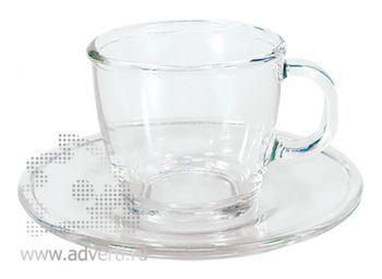 Чайная пара PR-054, прозрачная
