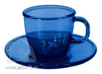 Чайная пара PR-054, синяя