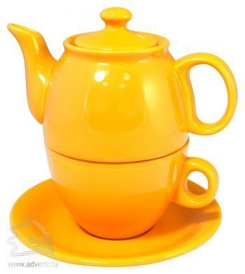 Чайник с чашкой «Чайный дуэт», желтый