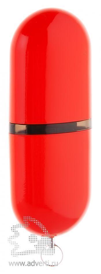 Флеш-память «Капсула», красная