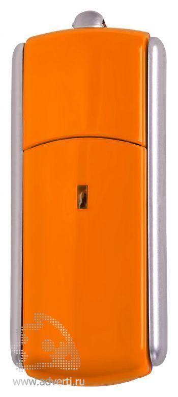 USB-флешка с крутящимся корпусом, оранжевая