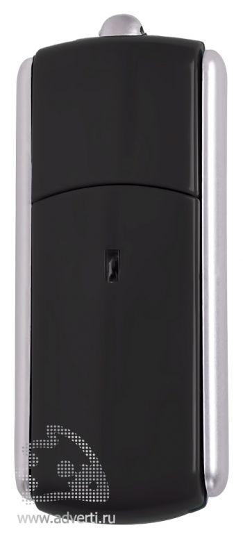 USB-флешка с крутящимся корпусом, черная