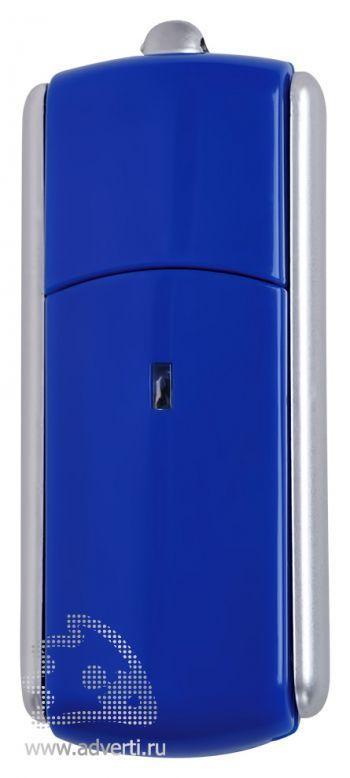 USB-флешка с крутящимся корпусом, синяя
