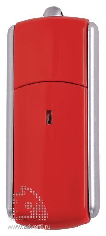 USB-флешка с крутящимся корпусом, красная