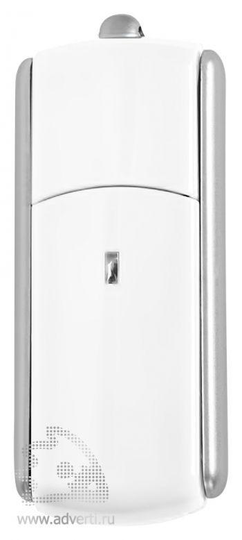 USB-флешка с крутящимся корпусом, белая