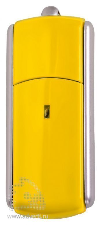 USB-флешка с крутящимся корпусом, желтая