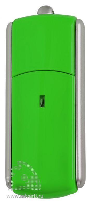 USB-флешка с крутящимся корпусом, зеленая