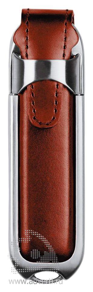 Флешка «Leather», коричевая