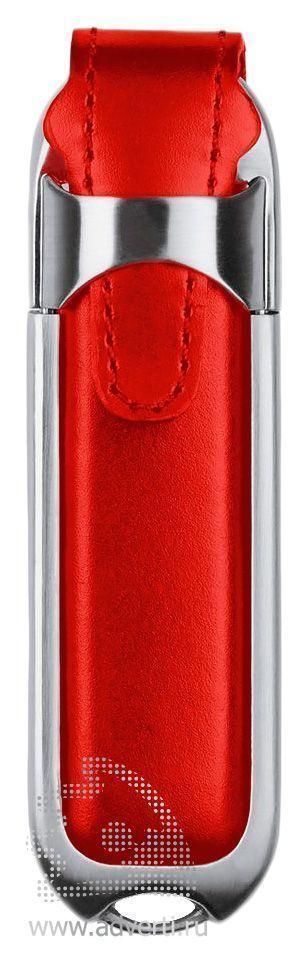 Флешка «Leather», красная