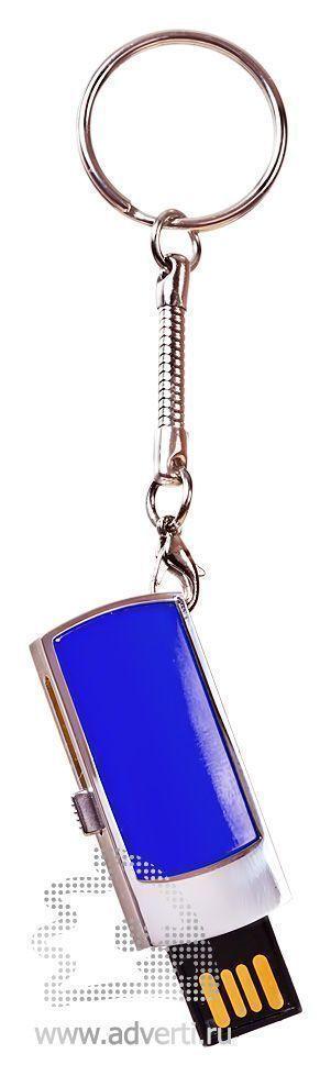 USB-флешка c выдвигающимся чипом, синяя