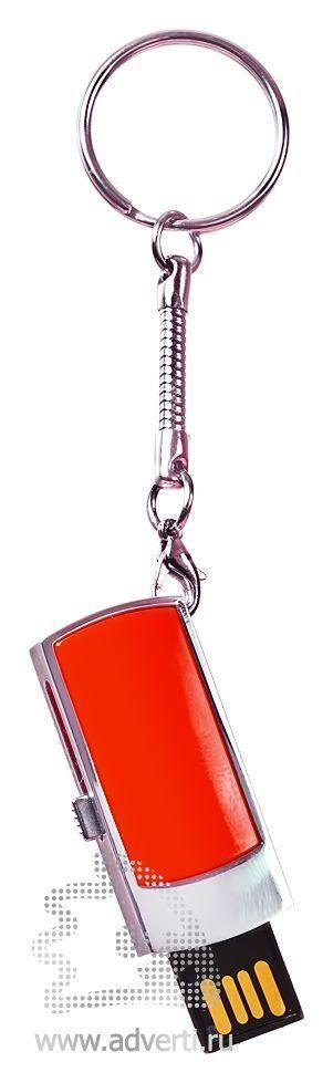 USB-флешка c выдвигающимся чипом, красная