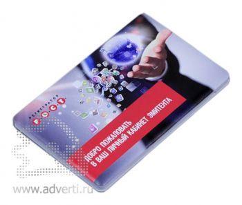 Универсальное зарядное устройство «Credit Card1 Color» 2500 mAh, пример печати