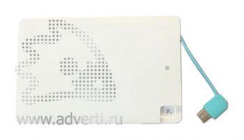 Универсальное зарядное устройство «Credit Card1 Color» 2500 mAh (без нанесения)