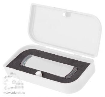 Пластиковая упаковка для флешки, белая