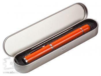 Подарочная упаковка для флешки-ручки в виде пенала, серебристая