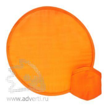 Фрисби в компактном чехле, оранжевый
