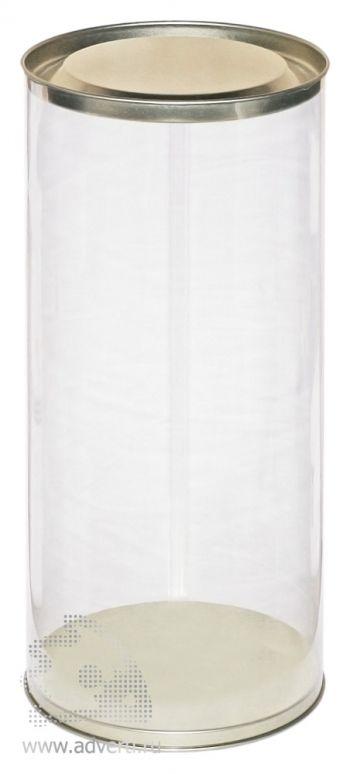 Пластиковая прозрачная туба под фигурку-полотенце
