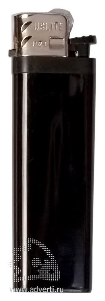 Зажигалка кремниевая, маленькая, черная
