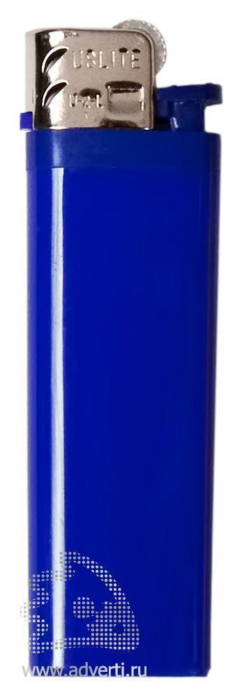 Зажигалка кремниевая, маленькая, синяя