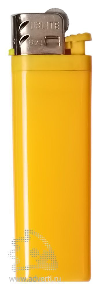 Зажигалка кремниевая, маленькая, желтая