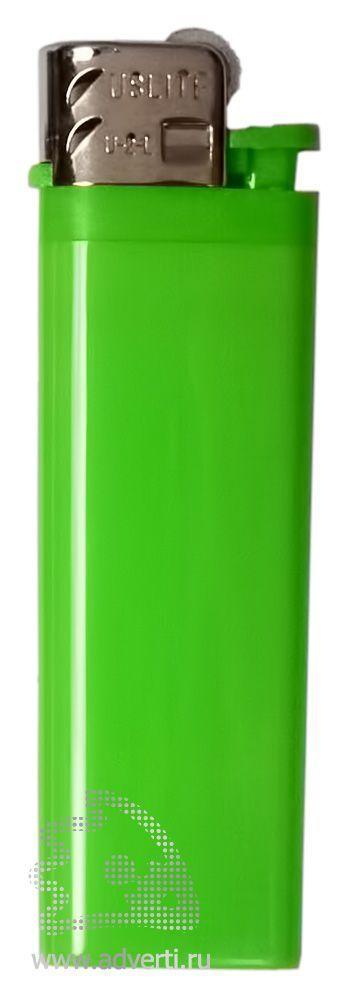 Зажигалка кремниевая, маленькая, зеленая