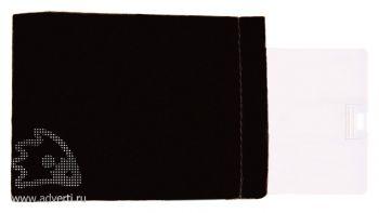 Чехол-мешочек для флешки-визитки, черная