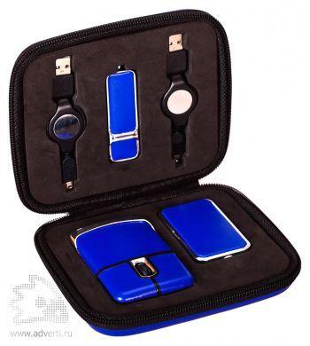 USB Набор с флешкой, синий