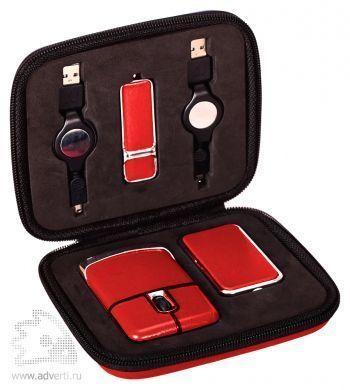 USB Набор с флешкой, красный