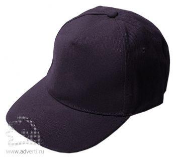 Бейсболка «Велюр», черная