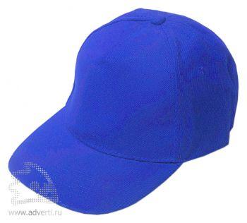 Бейсболка «Велюр», синяя