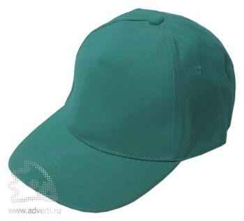 Бейсболка «Велюр», темно-зеленая
