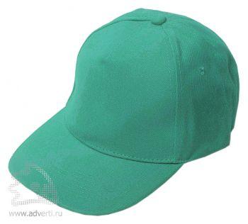 Бейсболка «Велюр», зеленая