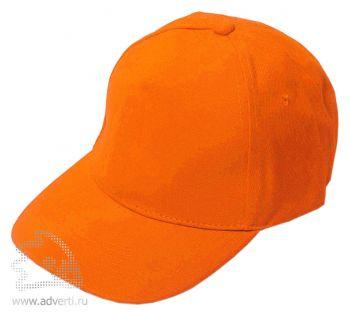 Бейсболка «Велюр», оранжевая