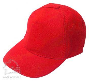 Бейсболка «Велюр», красная