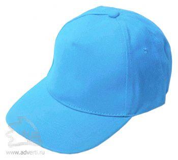 Бейсболка «Велюр», голубая